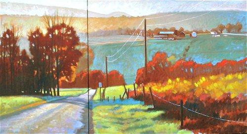 Homer's Ferry Autumn Diptych
