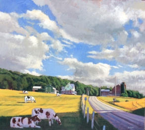 Landscape with Five Cows