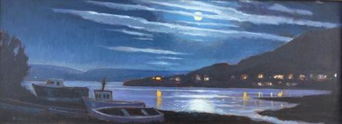 October Nocturne, Portree Scotland