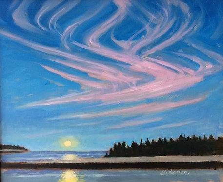 October Moonrise, Acadia Maine