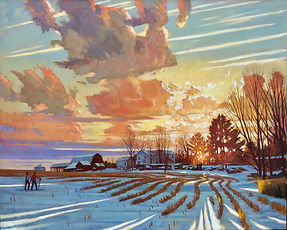 Winter Evening Light- Perry City Road-It