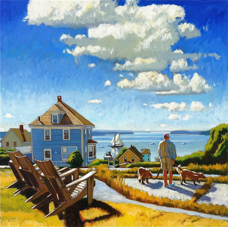 August Morning Walk, Stonington, Mai