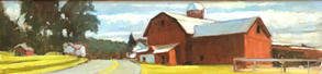 Latini Barn- Spring Hill, PA Oil on pane