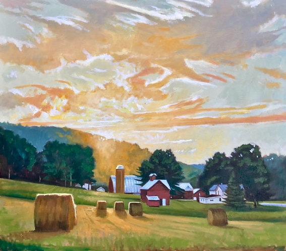 August Evening Light Sugar Run, PA