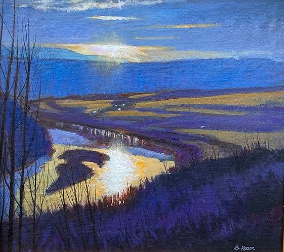 Susquehanna Equinox, Spring Evening Light
