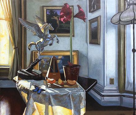 Still Life with One Blue Butterfly