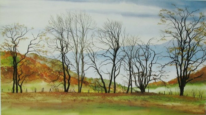 Autumn Hedgerow signed print