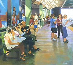 Light on Commuters- Philadelphia Oil on