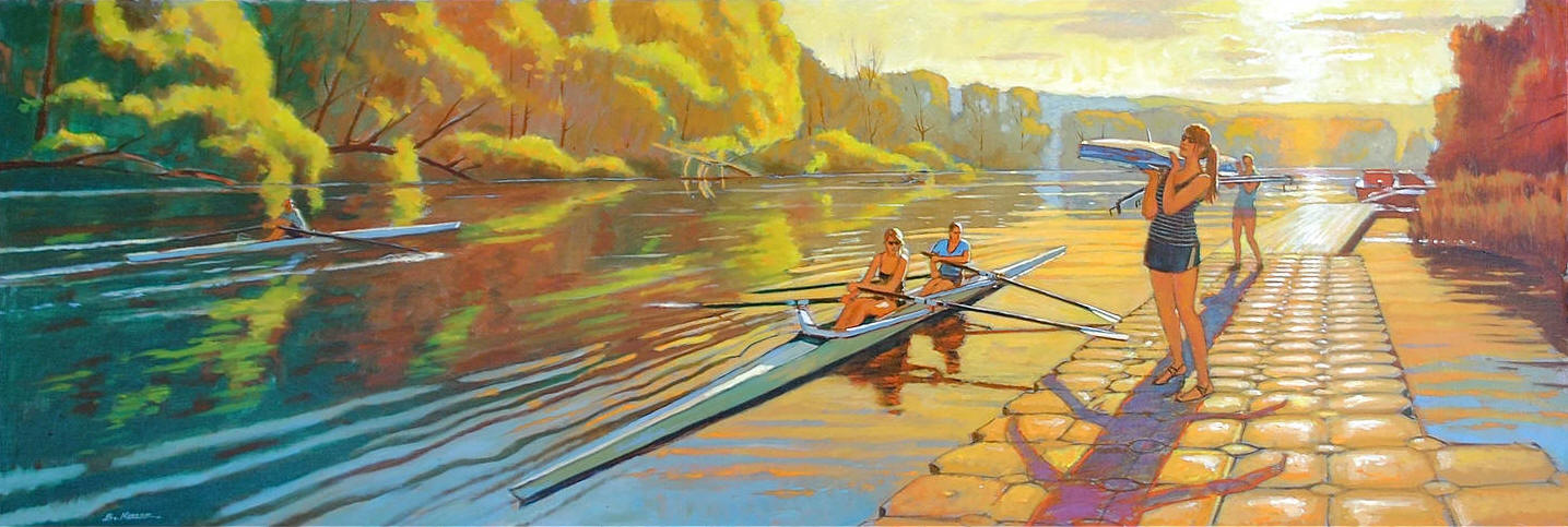 Cayuga Scullers-July Evening, Ithaca