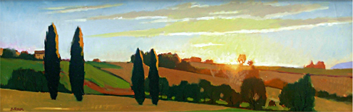 Umbrian Evening Light-June
