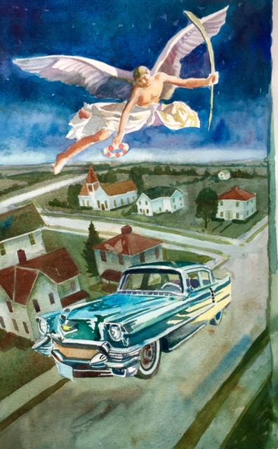 Coronation of the Cadillac. Watercolor 2