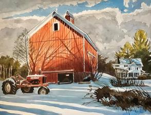 Winter Barn Light