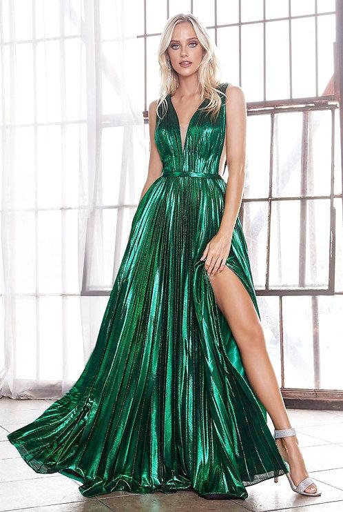 Emerald Metallic Green Dress