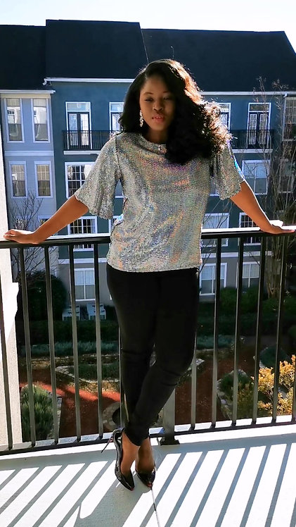 Metallic Shimmer Blouse