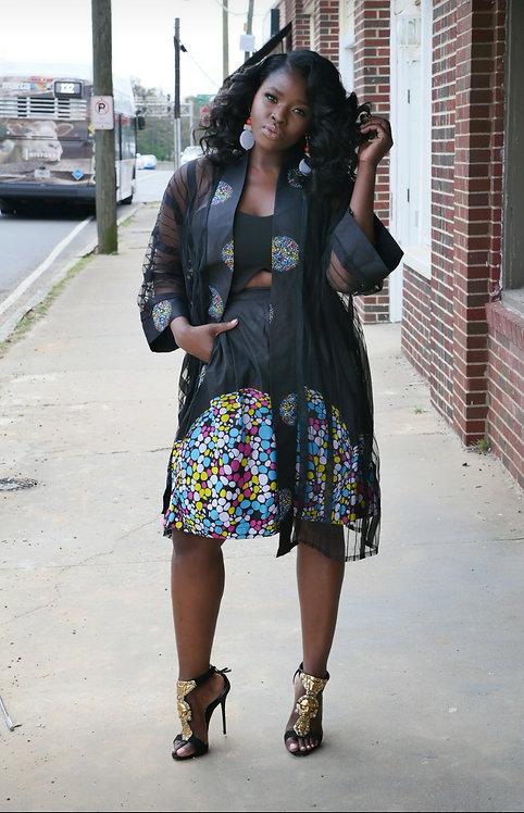 """""""Lace Kimono Set"""" Out of Lagos"""