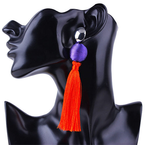 Orange color block earrings