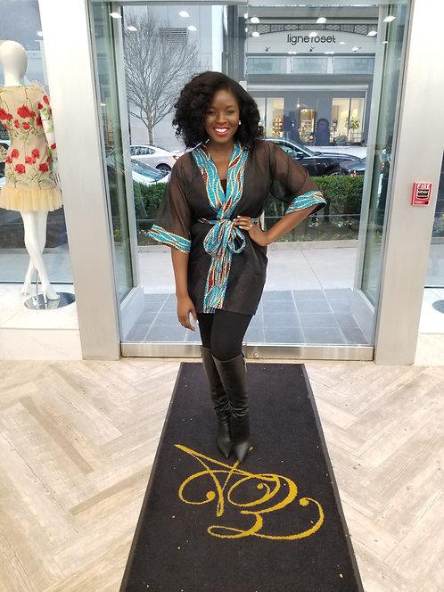 Brown Organza Kimono exclusive design