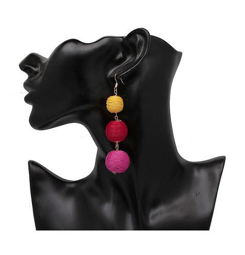 Three pin ball earrings