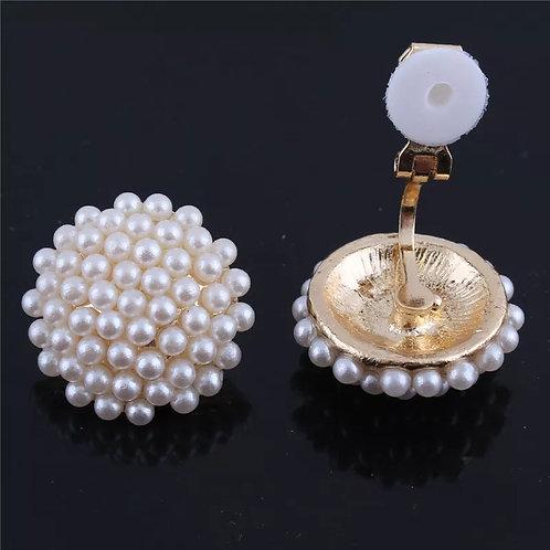 Million Pearl clip on earrings