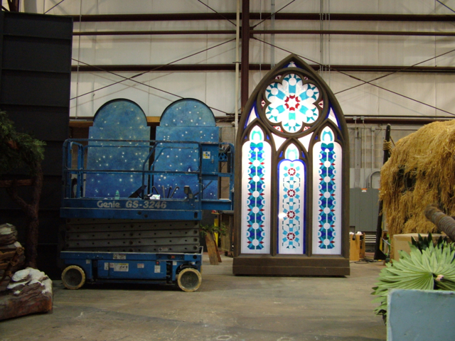 Cathedral window in shop