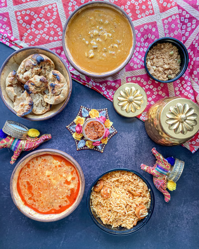 Marwari food flatlay