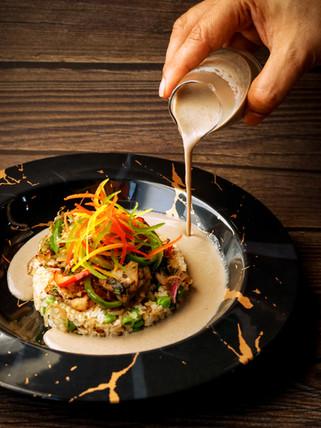 Mushroom Trio Pepper Stir fry with Brown Rice