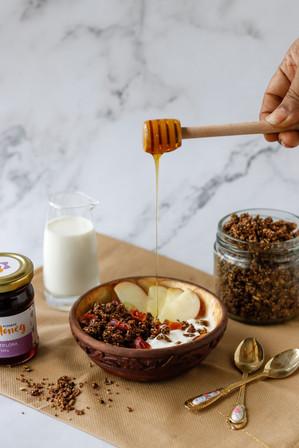Multiflora Honey Drip action photo