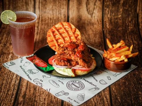 Louisiana's Cup Chicken Jr Burger Combo