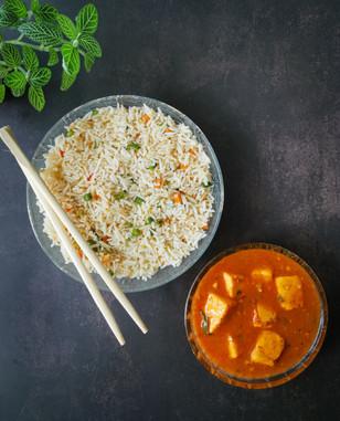 Mongolian Paneer & Burnt Garlic Rice