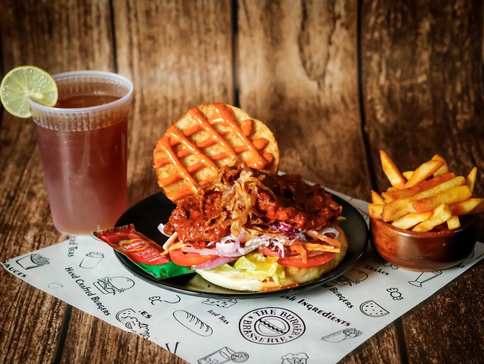 Texan Bbq Chicken Jr Burger Combo