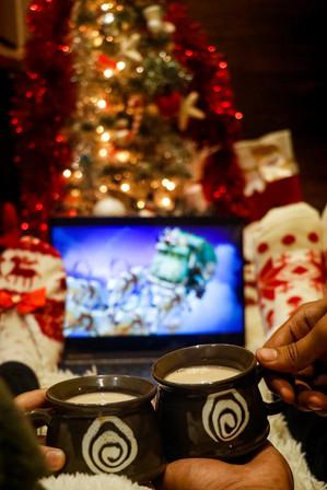 Christmas theme hot chocolate