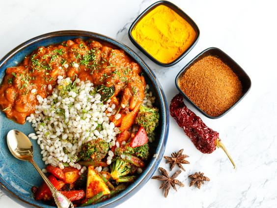 Kidney Bean Tomato Stew with Barley