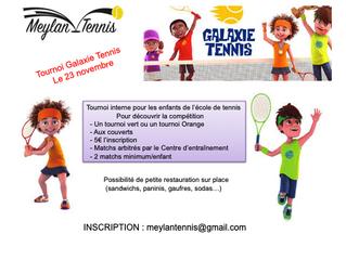 Tournois Galaxie Tennis Vert et Orange