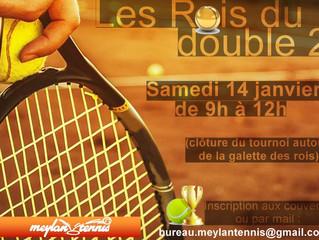 ANIMATION TOURNOI DE DOUBLES 14     JANVIER AUX COUVERTS