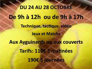 STAGE DE TOUSSAINT DU 24 AU 28 OCTOBRE