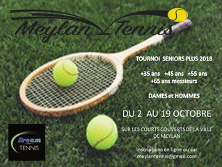 TOURNOI SENIORS PLUS DU 2 AU 19 OCTOBRE