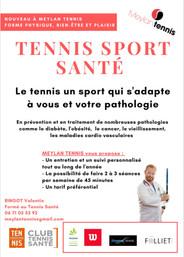 NOUVEAU Meylan Tennis propose le TENNIS SANTE