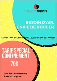 Tarif special confinement
