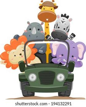 illustration-featuring-cute-safari-anima