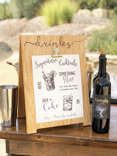 Personalized Drink Sign