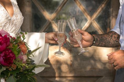 Champagne in Boho Paradise