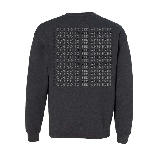 Go to Bed Crewneck - Charcoal Grey