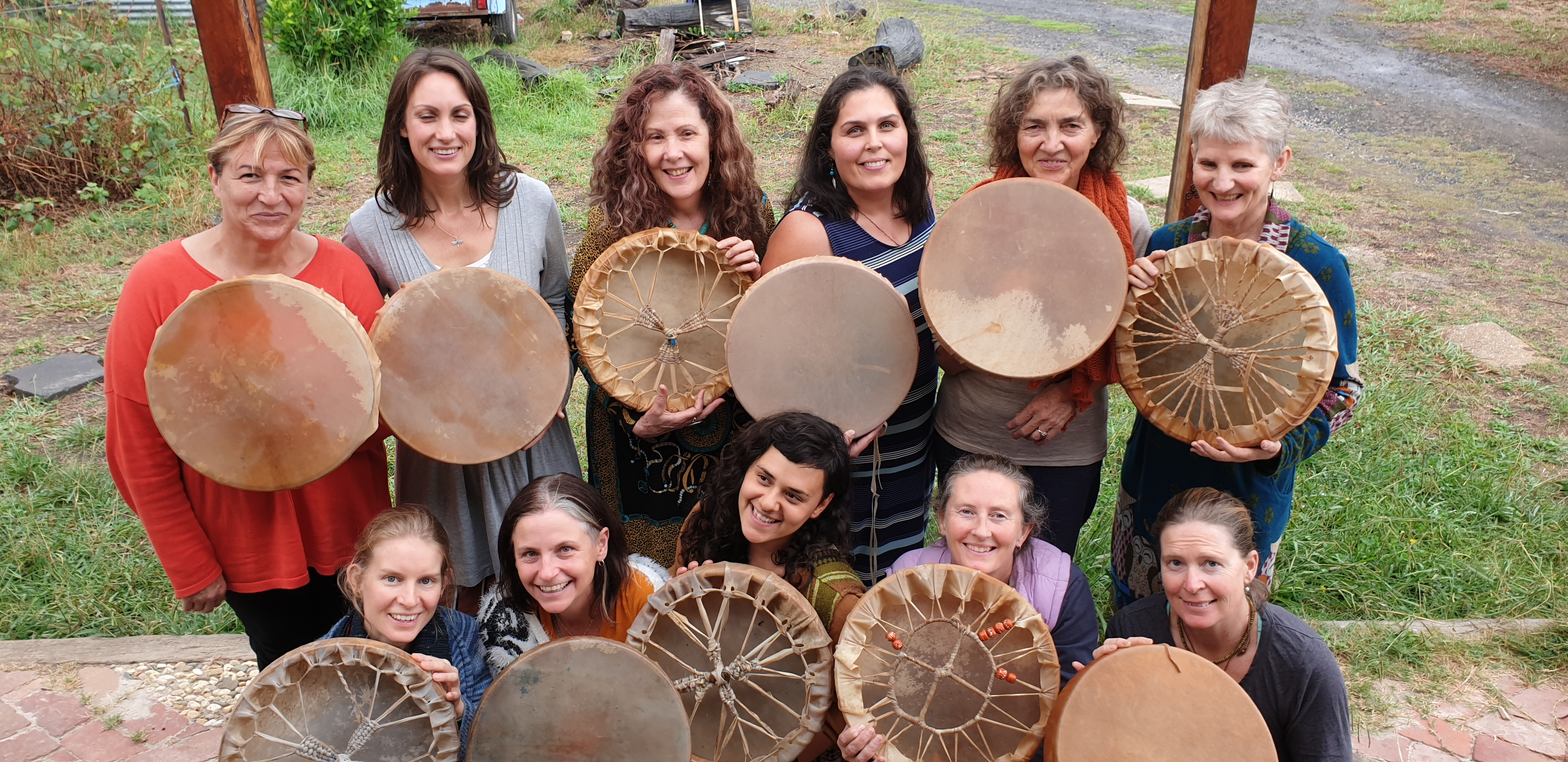 Women with their new drums