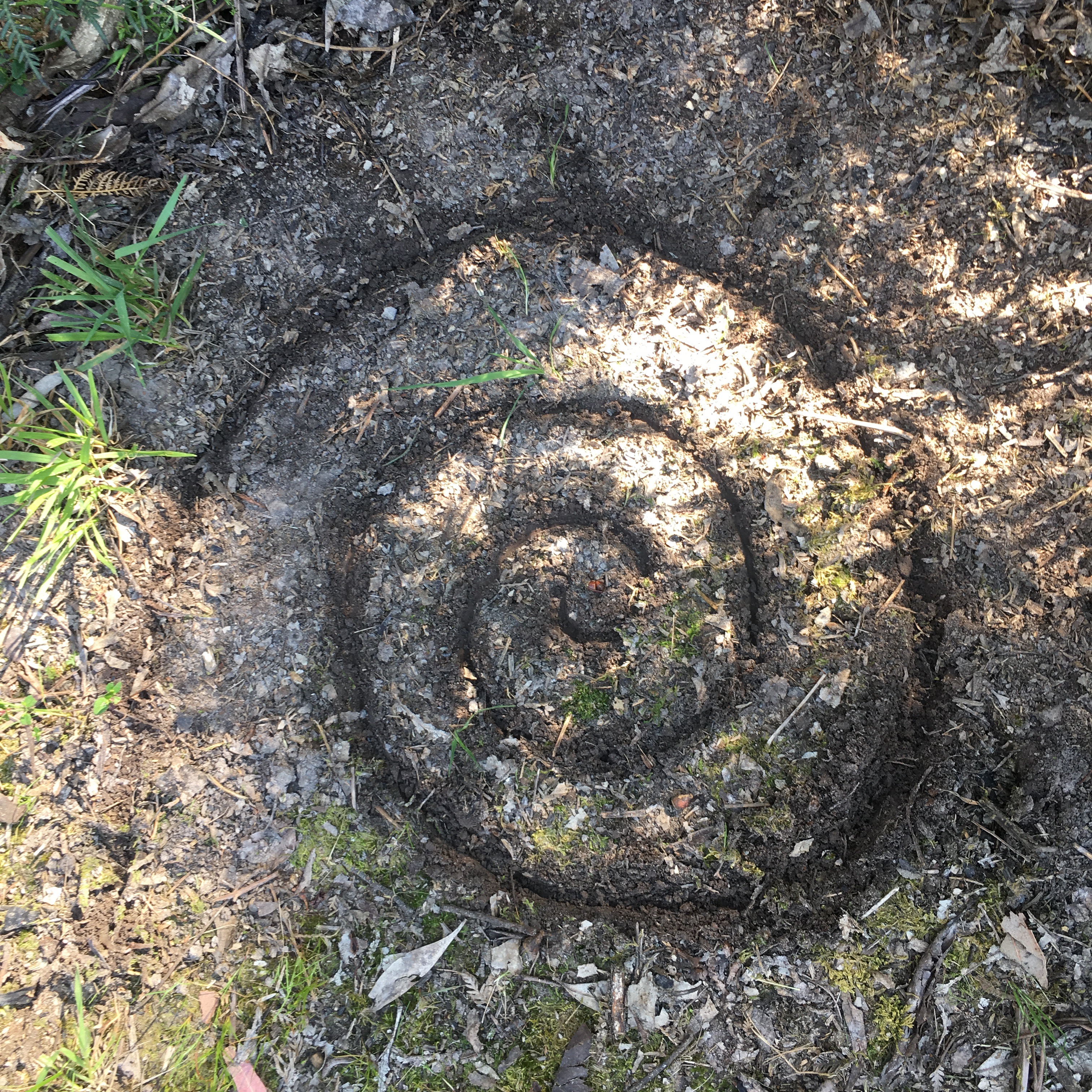 Spiral in the earth