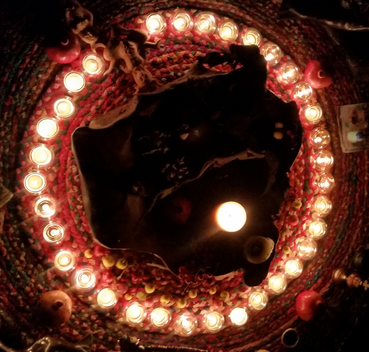 Altar by candle light