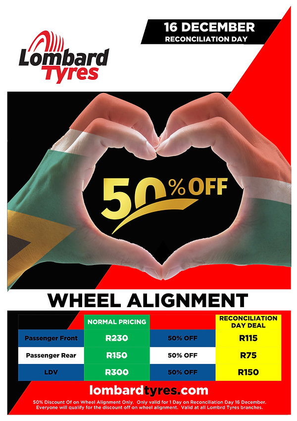 Reconciliation Day Wheel Alignment 2019.