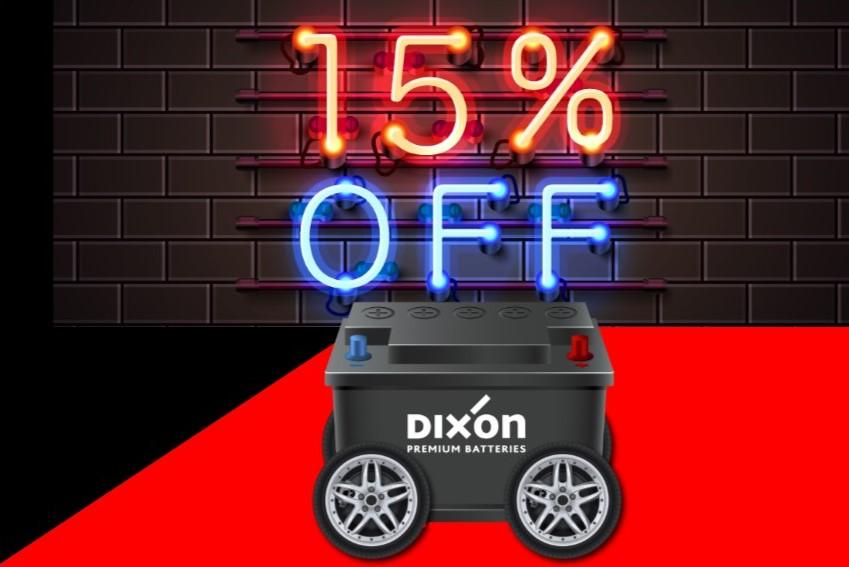 15% Discount off Dixon Batteries