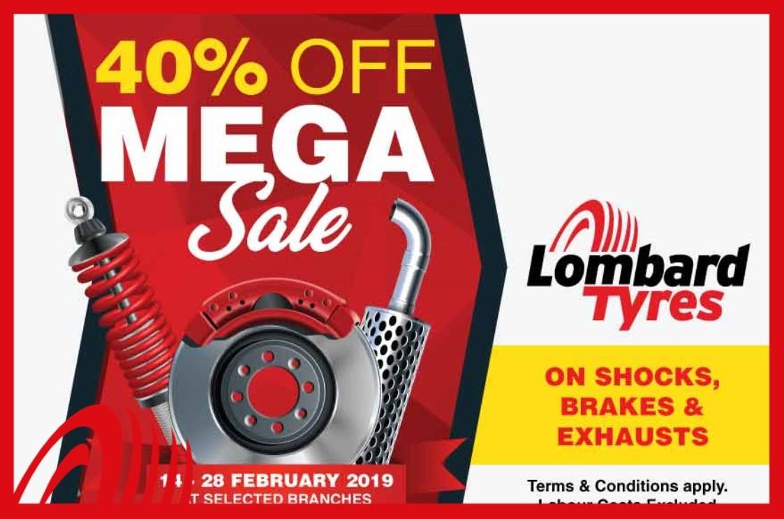 40% Off Mega Sale