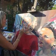 Lucienne beim Malen