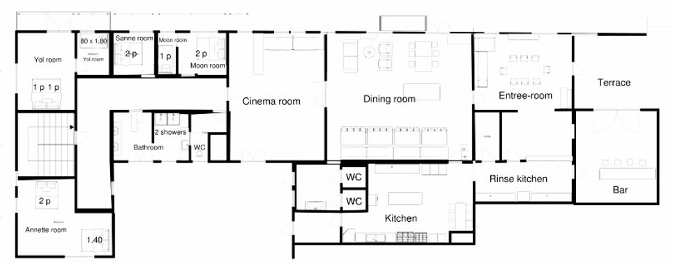 Floor plan Residence de Panneciere